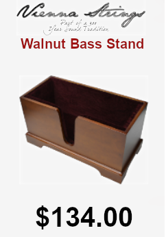 Vienna strings walnut bass stand on sale for $134.00
