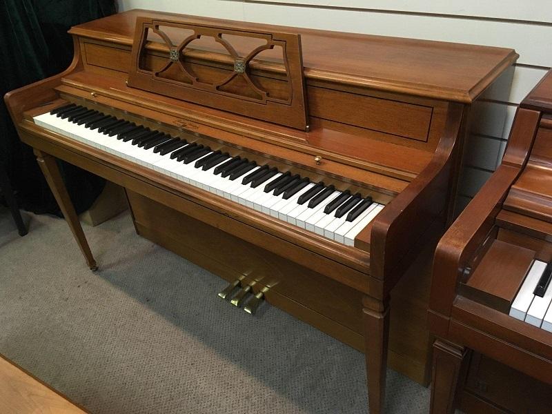 Wurlitzer Cherry Walnut Upright Piano