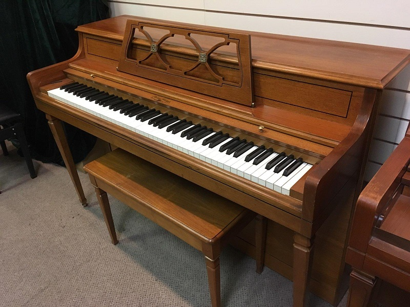 Wurlitzer Cherry Walnut Upright Piano
