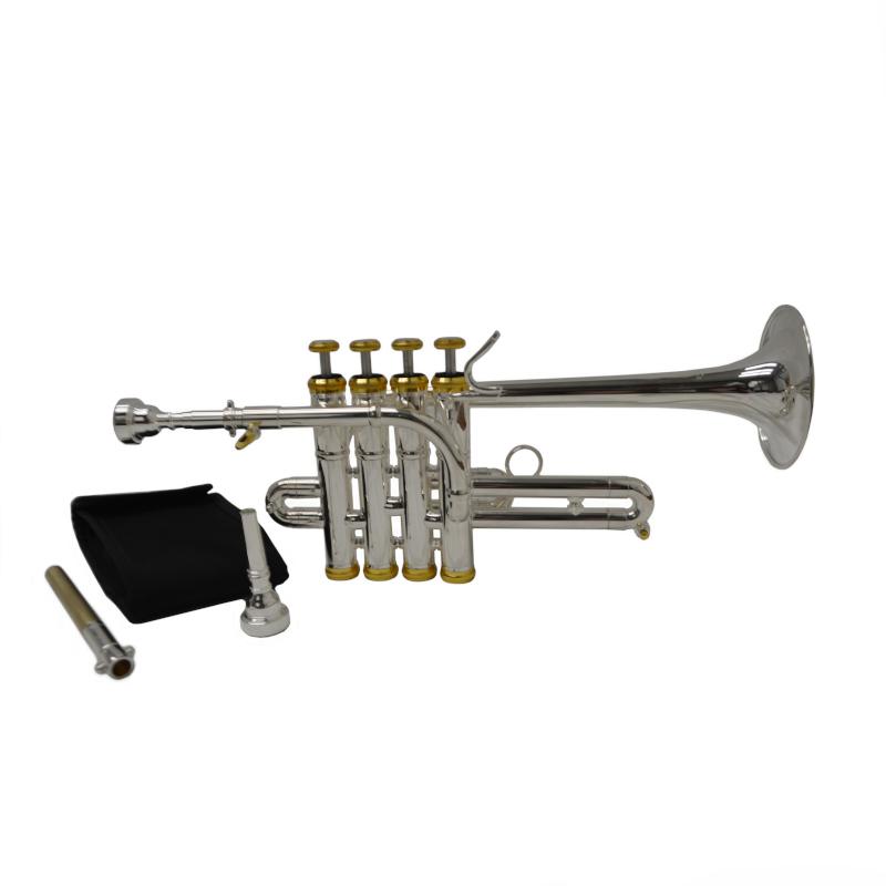 Schiller Elite Studio Piccolo Trumpet - Silver & Gold