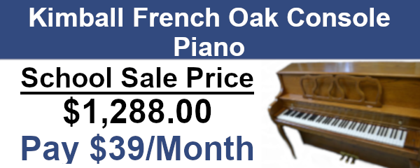 Kimball french oak console piano on sale