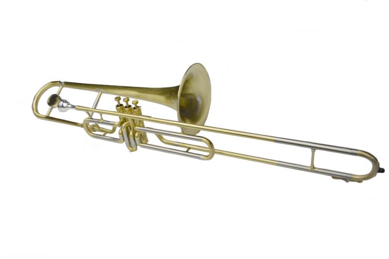 Schiller American Heritage Bb Valve Trombone - Brushed Gold