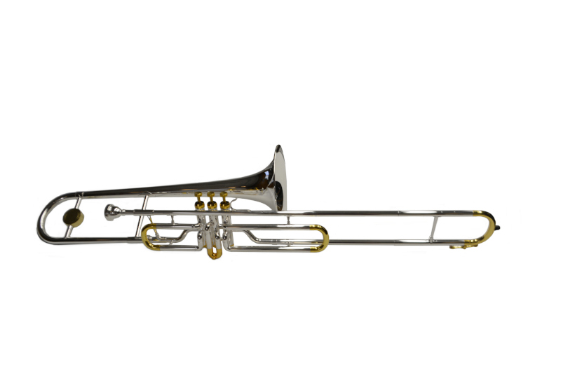 Schiller American Heritage Bb Valve Trombone - Silver and Gold - Jim Laabs  Music Store