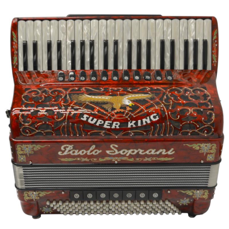 Paolo Soprani Super King Accordion Red-Decoration