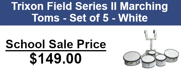Trixon field series ii marching toms set of five - white on sale