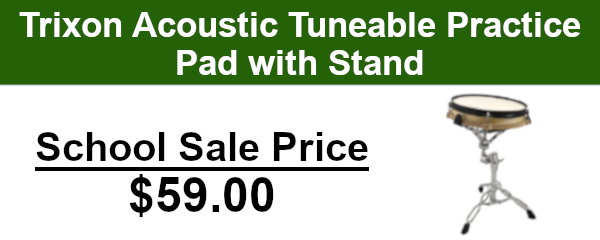 Trixon practice pad with stand on sale