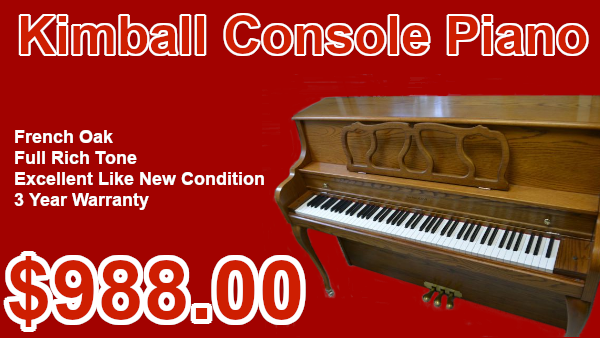 Kimball Console piano on sale