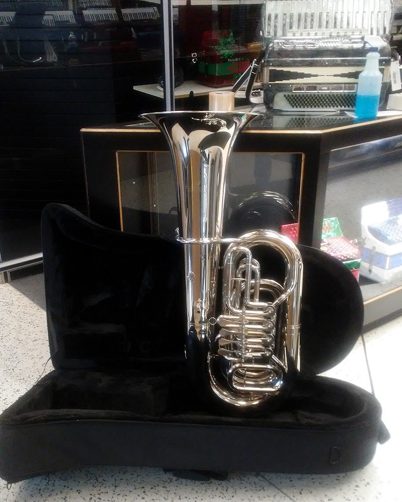 Schiller American Heritage BBb Rotary Tuba - Nickel Plated