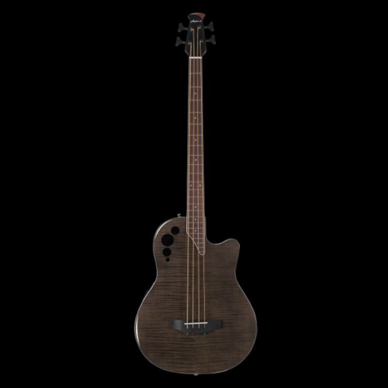 Ovation Applause® Elite® Exotic Bass 4-String Bass Mid Depth Trans Black Flame