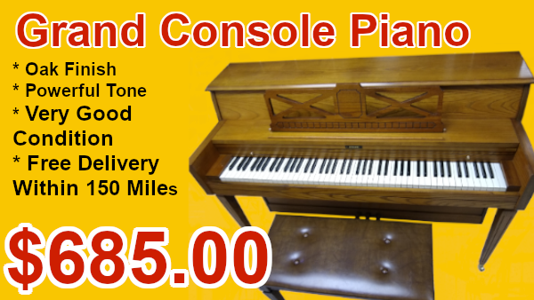 Grand console piano on sale