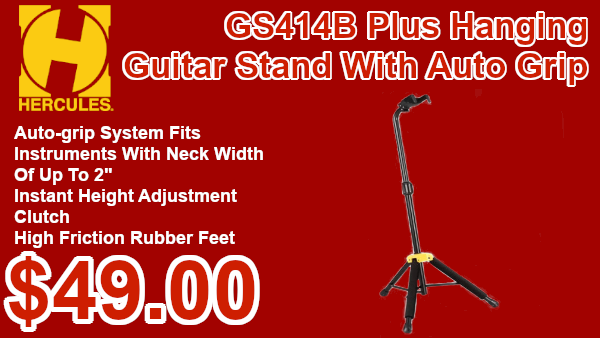Hercules GS414B Plust Hanging Guitar stand on sale