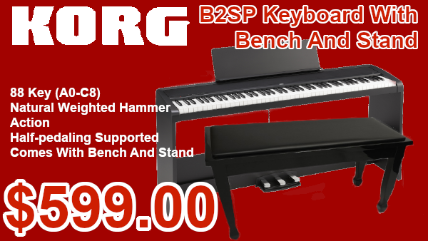 Korg B2SP with stand and bench on sale