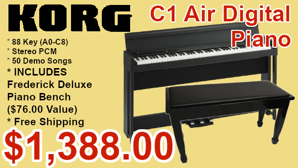 Korg c1 air digital piano and adjustable bench on sale