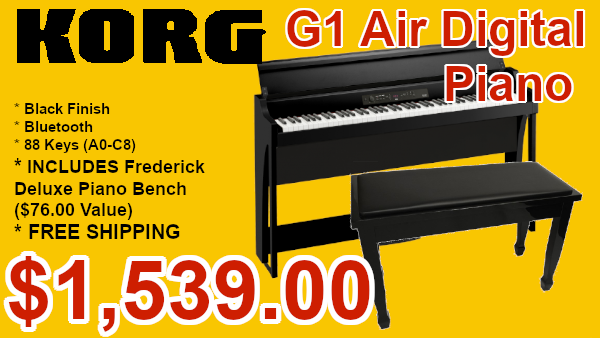 Korg G1 Air digital piano with bluetooth on sale