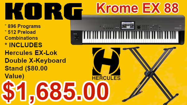 Korg Krome 88 with Hercules stand on sale