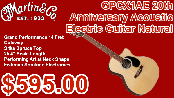 Martin GPCX1AE 20th anniversary acoustic guitar on sale