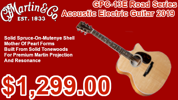 Martin GPC-13E Road Series Acoustic Electric Guitar 2019 on sale