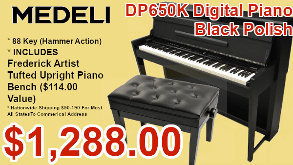 Medeli dp650k digital piano black polish on sale