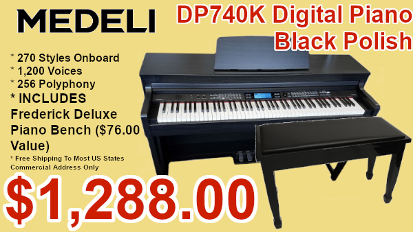 medeli dp70k digital piano and adjustable bench on sale