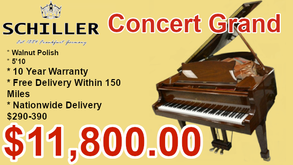 Schiller 5'10 concert grand piano on sale