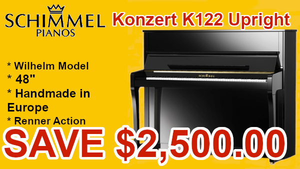 Schimmel Konzert k122 piano on sale