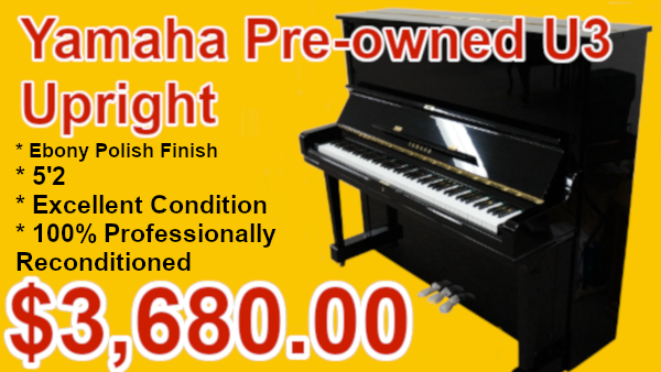 Yamaha U3 upright piano on sale