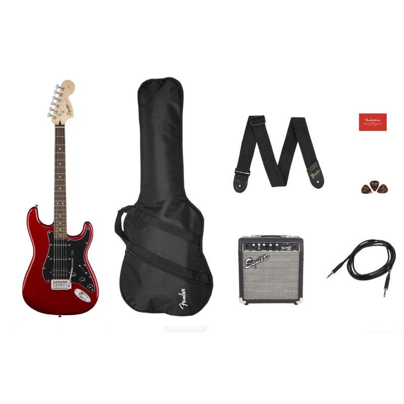 Squier Affinity Series Stratocaser® HSS PACK - Candy Apple Red