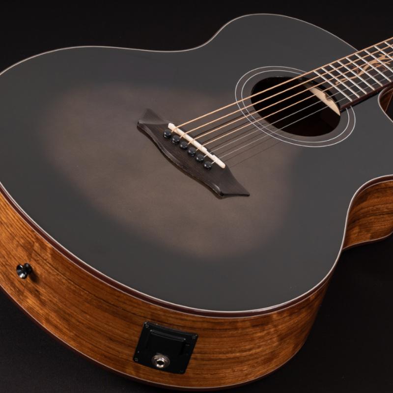 Washburn BTS9VCECH-D Bella Tono Vite S9V Cutaway Studio Acoustic Guitar. Gloss Charcoal Burst
