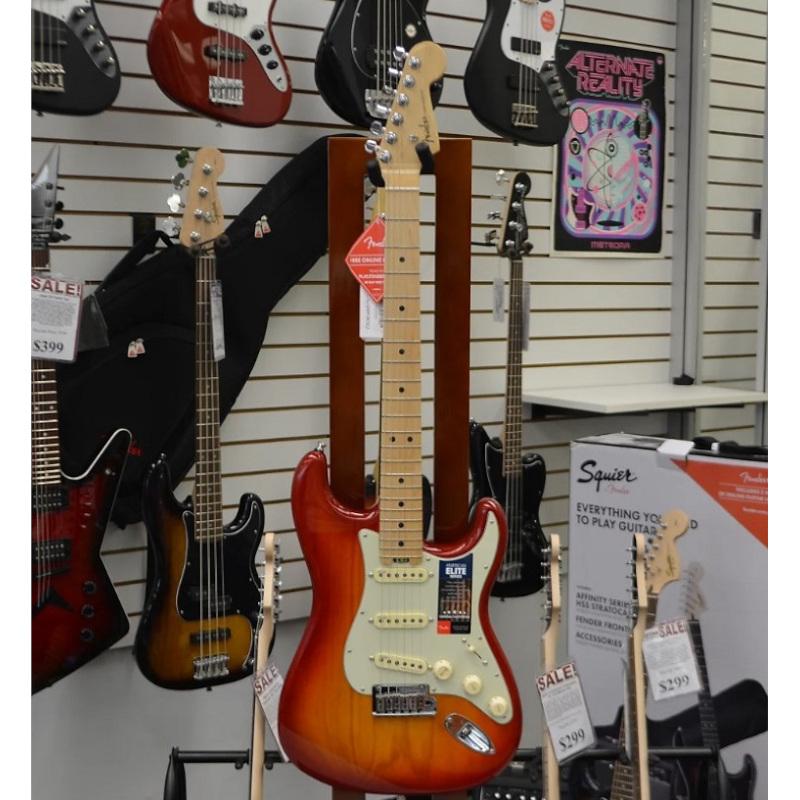 Fender American Elite Stratocaster Aged Cherry Burst w/ Maple Neck