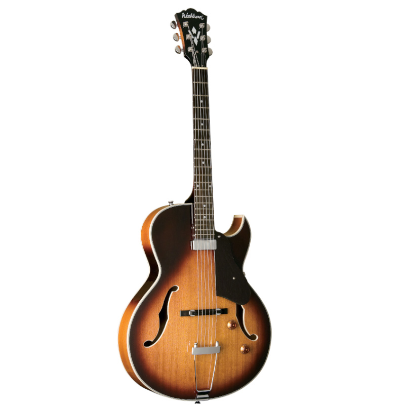 Washburn HB15CTSK-O HB15 Hollowbody Electric Guitar. Tobacco Sunburst
