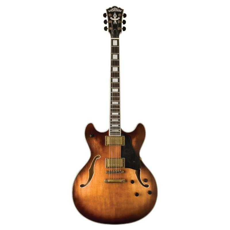 Washburn HB36K-O HB36 Hollowbody Electric Guitar. Vintage Matte