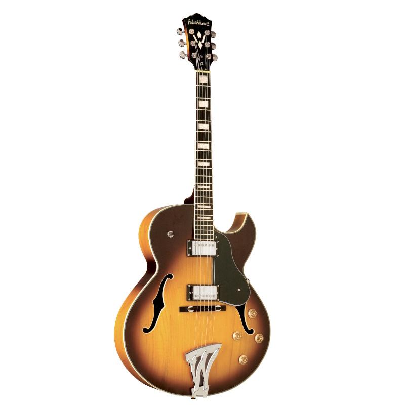 Washburn J3TSK-O Jazz Series J3 Hollowbody Electic Guitar. Tobacco Sunburst