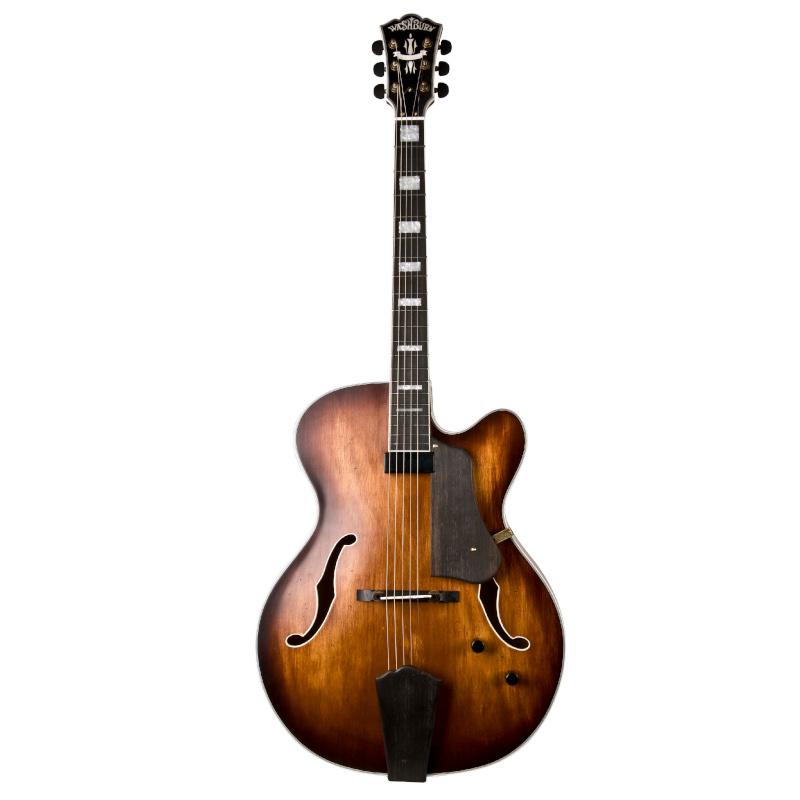 Washburn J600K-O Jazz Series J600 Hollowbody Single Cutaway Electric Guitar. Vintage Matte