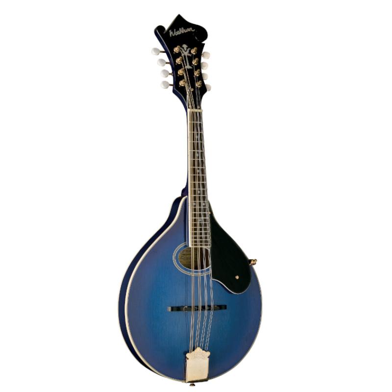 Washburn M1SDLTBL-A Americana Series M1SD A-Style Mandolin. Transparent Blue