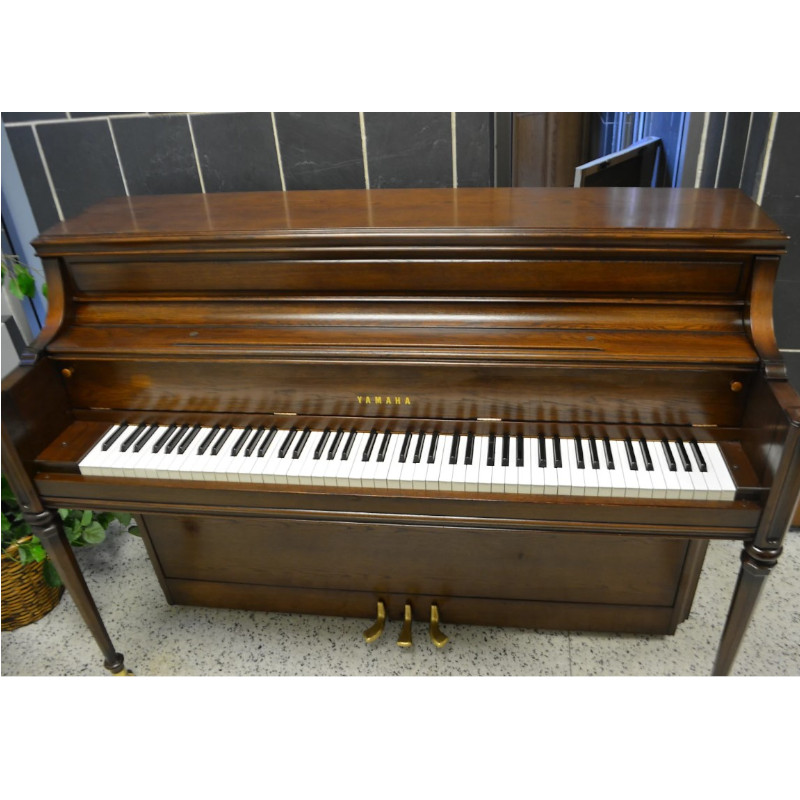 Yamaha Upright Piano Dark Satin Oak