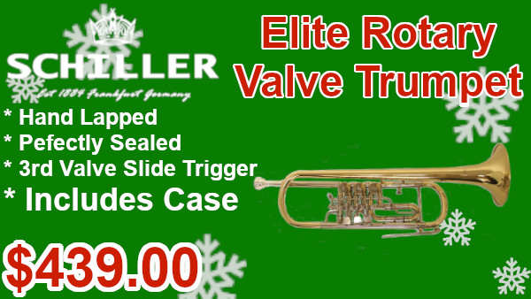Schiller Elite Roatary Valve Trumpet on sale