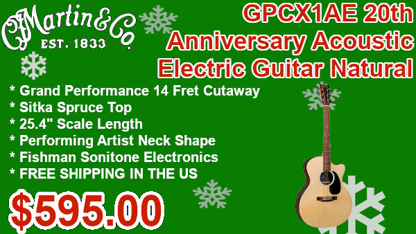 Martin GPCX1AE 20th Anniversary Acoustic Electric Guitar Natural on sale