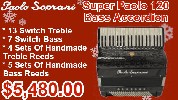 Super Paolo 120 Bass Accordion on sale