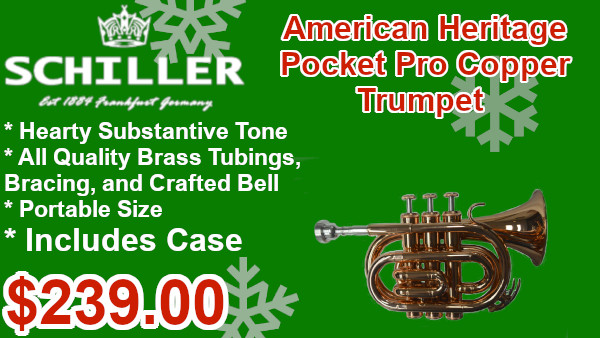 Schiller American Heritage Pocket Pro Copper Trumpet on sale