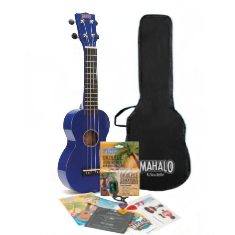 Mahalo Rainbow Series Soprano Ukulele Pack - Blue