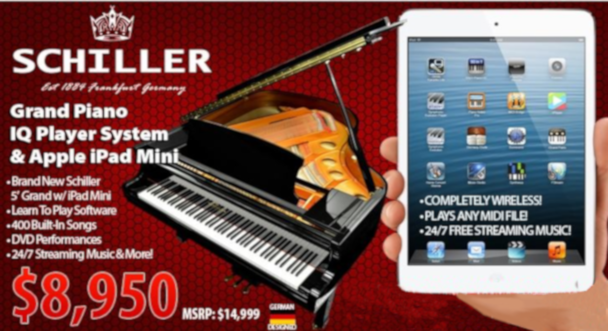 Schiller piano disc with iPad player on sale