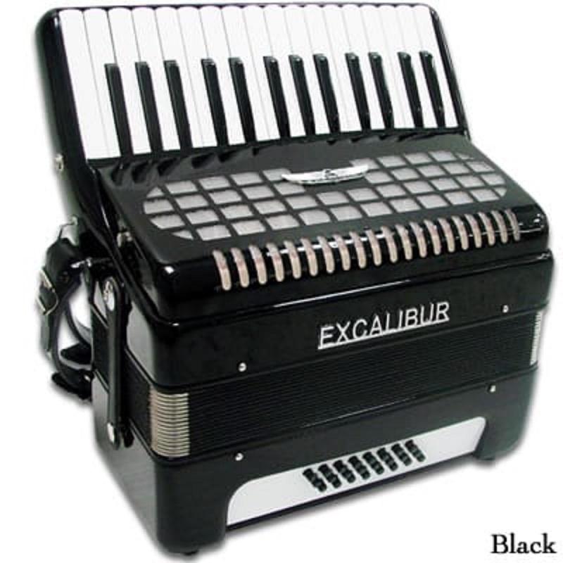 Excalibur Geneva 24 Bass Piano Accordion - Ebony Polish