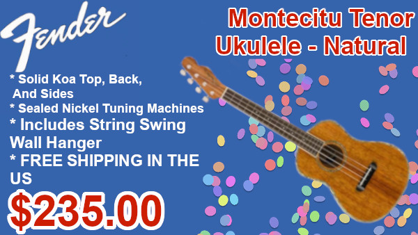 Fender Montcito Tenor ukulele on sale