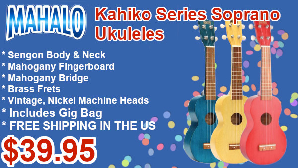 Mahalo Kahiko series soprano ukuleles on sale