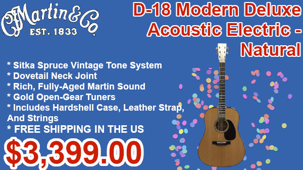 Martin D-18 Modern Deluxe acoustic Electric - Natural on sale