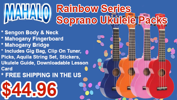 Mahalo Rainbow series ukulele packs on sale