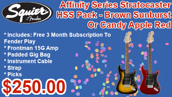 Squier Affinity Series Stratocaster HSS packs on sale