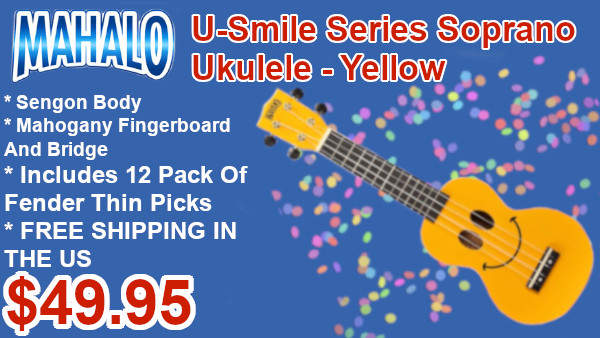 mahalo U-smile series soprano ukulele on sale