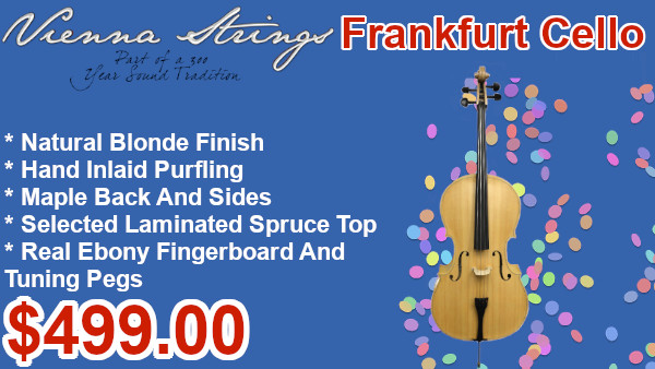 Vienna Strings Frankfurt Cello Blonde Natural on sale