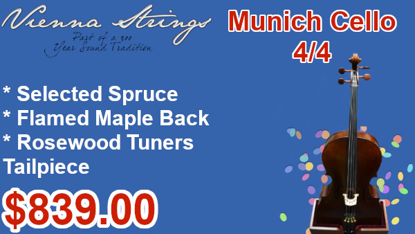 Vienna Strings Munich Cello 4/4 on sale